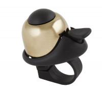 Звонок 5-420067 алюминиевый /пластик мини D=36мм громкий и долгий звук золотистый (на блистере) M-WAVE