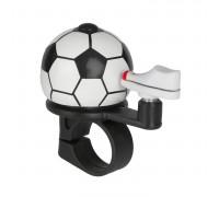 Звонок 5-420103 алюминиевый /пластик мини D=38мм ″футбол″ черно-белый