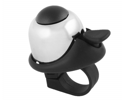Звонок 5-420142 алюминиевый /пластик мини D=36мм громкий и долгий звук (на блистере) белый M-WAVE