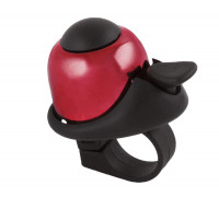 Звонок 5-420143 алюминиевый /пластик мини D=36мм громкий и долгий звук (на блистере) красный M-WAVE