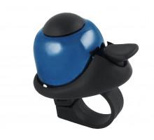 Звонок 5-420144 алюминиевый /пластик мини D=36мм громкий и долгий звук (на блистере) синий M-WAVE