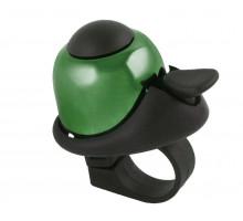 Звонок 5-420145 алюминиевый /пластик мини D=36мм громкий и долгий звук (на блистере) зеленый M-WAVE
