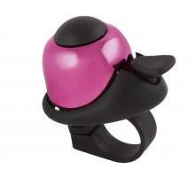 Звонок 5-420148 алюминиевый /пластик мини D=36мм громкий и долгий звук (на блистере) розовый M-WAVE