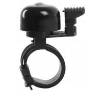 Звонок 5-420150 алюминиевый б/съемный крепление без инструмента, мини, черный