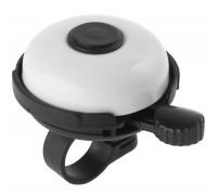 Звонок 5-420152 алюминиевый /пластик D=53мм черно-белый (на блистере) M-WAVE