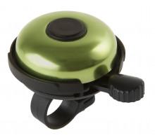 Звонок 5-420155 алюминиевый /пластик D=53мм черно-зеленый (на блистере) M-WAVE