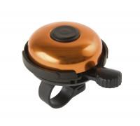 Звонок 5-420157 алюминиевый /пластик D=53мм черно-оранжевый (на блистере) M-WAVE