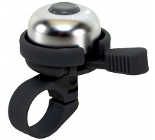 Звонок 5-420181 алюминиевый /пластик мини ″динг-донг″ серебристый-черный