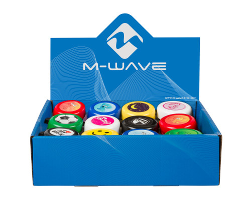 Звонок 5-420190 сталь детский 12 цветов в ассортименте M-WAVE