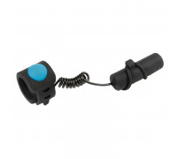 Звонок 5-420270 ЭЛЕКТРО 120Дб б/съемный пластик влагозащитный с батарейками с силоконовой оболочкой, для рулей 22,2-31,8мм, черный M-WAVE