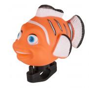 Клаксон 5-422040 резина/пластик детский оранжевый ″рыбка″
