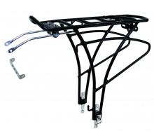 Багажник 5-440195 алюминиевый 24-28″ для переметной сумки сварной регулируемый черный