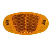 Светоотражающие 5-466606 катафоты в спицы 60мм крепления из нержавейки, 4шт в комплекте оранжевые VENTURA
