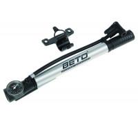 Насос 5-470235 алюминиевый шланг+ножной упор, манометр, до 8,5Bar/125PSI,  универсальная гол-ка Т-ручка серебристый BETO