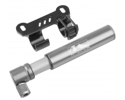 Насос 5-470268 алюминиевый фрезерованный мини 65г 120мм до 6 бар/85PSI универсальный головка серебристый M-WAVE