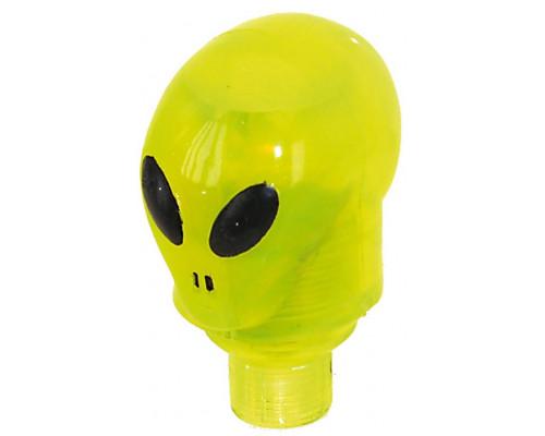 Колпачки для ниппеля 5-519976 ″инопланетянин″ желтый пластик авто/спорт со светодиодом с батарейками