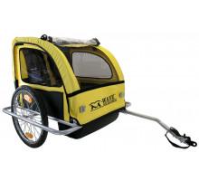 Крепление 5-640091 прицеп для перевозки детей или грузов алюминиевый рама и обод 20″ 2 сиденияя с крышей
