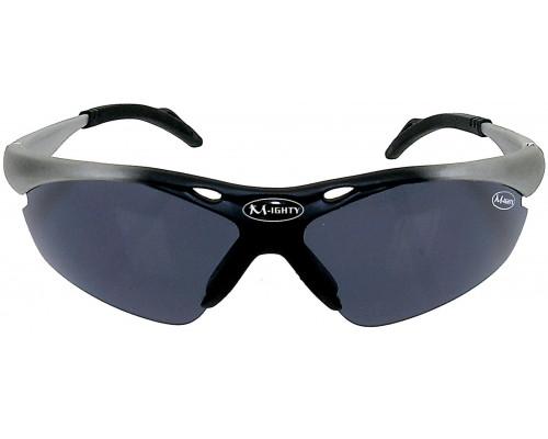 Очки 5-710009 солнцезащитные +чехол+голуб./прозр./оранж./желтые сменные линзы МIGHTY