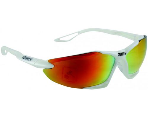 Очки 5-710013 солнцезащитные +чехол+прозр/оранж/желт линзы иридий белая оправа GRILLAMID-TR90 MIGHTY