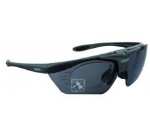 Очки 5-710015 солнцезащитные с дополнительной оправой для диоптр. линз+чехол+прозр./желтые сменные линзы MIGHTY