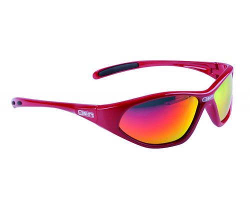 Очки 5-710033 солнцезащитные детские красная оправа иридиевые линзы МIGHTY