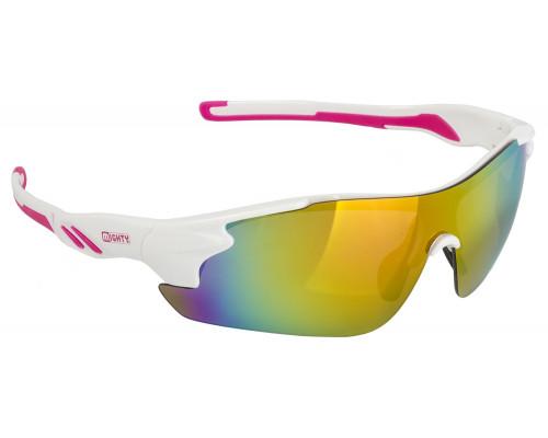 Очки 5-710907 солнцезащитные зеркальные+чехол+прозр./оранж./желт. линзы иридиевые белая оправа RAYON ONE MIGHTY