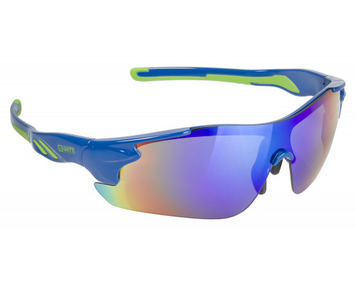 Очки 5-710909 солнцезащитные зеркальные + чехол + прозрачные/синие/желтые линзы, иридиевые, синяя оправа RAYON ONE MIGHTY