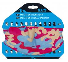 Бандана 5-715189 дышаший полиэстер с микрофиброй 24х48см бесшовная CAMOUFLAGE розово-синяя M-WAVE