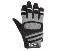 Перчатки 5-719856 длинные пальцы гель/лайкра дышащие д/сенсора антискользящие размер S с защитой черно-серые M-WAVE