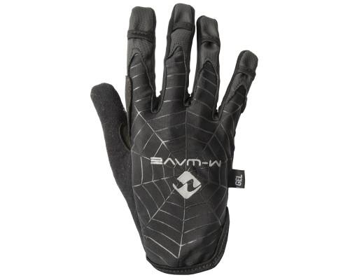 Перчатки 5-719864 длинные пальцы гель/эластан дышащие д/сенсора антискользящие размер S черные SPIDERWEB M-WAVE