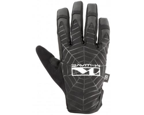 Перчатки 5-719866 длинные пальцы гель/эластан дышащие д/сенсора антискользящие размер L черные SPIDERWEB M-WAVE