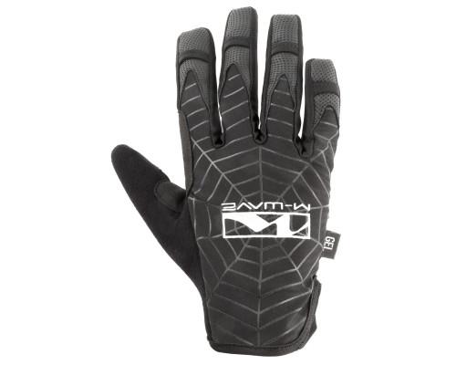 Перчатки 5-719867 длинные пальцы гель/эластан дышащие д/сенсора антискользящие размер XL черные SPIDERWEB M-WAVE