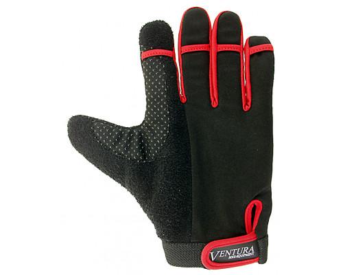 Перчатки 5-719950 длинные пальцы гель/лайкра дышащие антискользящие размер М цвета в ассортименте, с петельками VENTURA