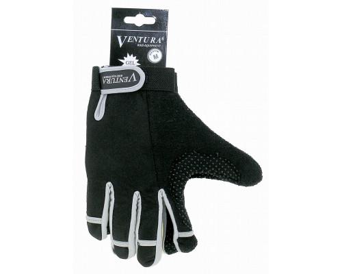Перчатки 5-719951 длинные пальцы гель/лайкра дышащие антискользящие размер размер L цвета в ассортименте, с петельками VENTURA