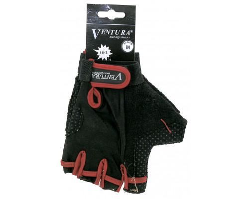 Перчатки 5-719972 гель/лайкра дышащие антискользящие размер размер XL цвета в ассортименте, с петельками VENTURA