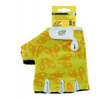 Перчатки 5-719981 лайкра антискользящая ладонь, размер размер L/XLчерно-желтые TOUR DE FRANCE