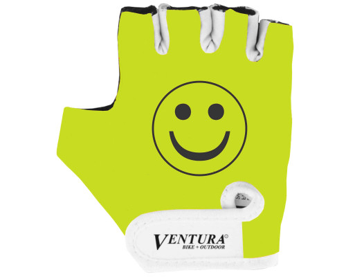 Перчатки 5-719994 детские лайкра антискользящие размер XS неоново-желтые VENTURA
