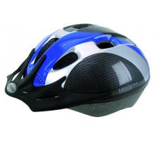 Шлем 5-730920 с сеточкой 9 отверстий, 54-58см сине-серо-карбон. VENTURA