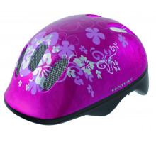 Шлем .детский/подростк. 5-731001 с сеточкой 6 отверстий 52-56см FLOWER/розовый M-WAVE