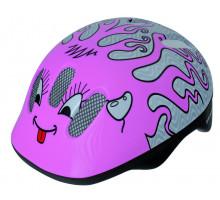 Шлем .детский/подростк. 5-731006 с сеточкой 6 отверстий 52-56см CURLY/розовый M-WAVE