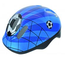 Шлем .детский/подростк. 5-731007 с сеточкой 6 отверстий 52-56см SOCCER/сине-бело-черный M-WAVE