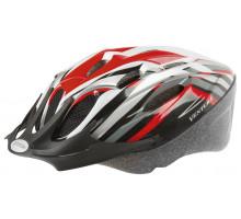 Шлем 5-731034 с сеточкой 11 отверстий, 53-57см черно-красно-белый M-WAVE ACTIVE