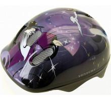 Шлем .детский/подростк. 5-731123 с сеточкой 6 отверстий 52-56см WIZARD/пурпурно-сине-черный M-WAVE