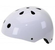 Шлем 5-731183 универс/ВМХ/FREESTYLE 11 отверстий, суперпрочный 54-58см лакир. белый M-WAVE