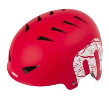 Шлем 5-731224 универс/ВМХ/FREESTYLE 14 отверстий, ABS-суперпрочный 54-58см красный матовый MIGHTY X-STYLE