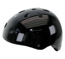 Шлем 5-731282 универс/ВМХ/FREESTYLE 11 отверстий,суперпрочный 58-61см черный лакир. M-WAVE