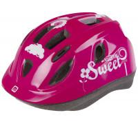 Шлем .детский/подростк. 5-731885 с сеточкой 12 отверстий, INMOLD 52-56см SWEET/розовый M-WAVE JUNIOR