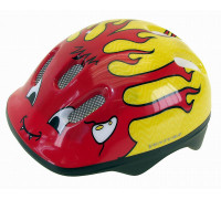 Шлем .детский/подростк. 5-734040 с сеточкой 6 отверстий 50-57см LITTLE DEVIL/красно-желтый M-WAVE