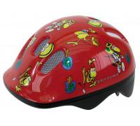 Шлем .детский/подростк. 5-734070 с сеточкой 6 отверстий 48-52см FROGS/красный M-WAVE