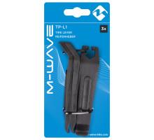 Монтировки 5-880262 пластиковые с двойным крюком для зацепом к спицам (3шт на блистере) черные M-WAVE